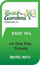 Busch Gardens Tampa 16% off